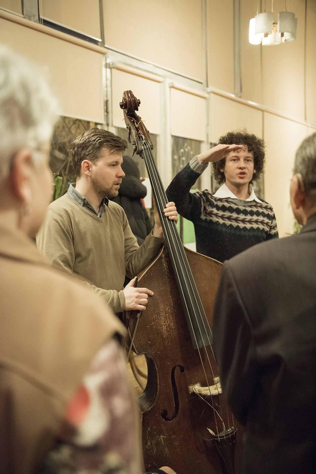 Robert z Łukaszem Owczynnikowem, wiolonczelistą.